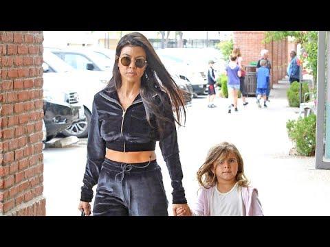 Kourtney Kardashian Treats Penelope To Lunch While Scott Disick Keeps Partying In Europe