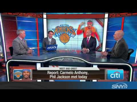 Video: Carmelo Anthony and Phil Jackson meet, greet, and talk