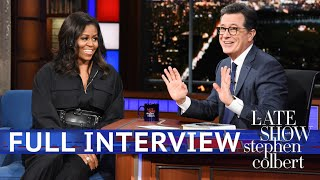 Video Full Interview: Michelle Obama Talks To Stephen Colbert MP3, 3GP, MP4, WEBM, AVI, FLV Desember 2018