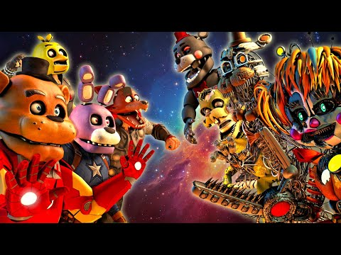 [fnaf Sfm] Avengers Animatronics Vs. Salvaged (five Nights At Freddy's)