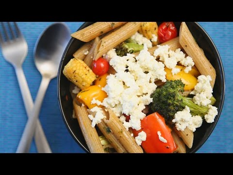 Pasta With Roasted Vegetables | Easy & Tasty Italian Recipe | Divine Taste With Anushruti