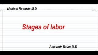 Stages of labor Quick review of stages of labor.