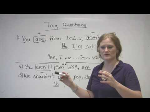 tags - http://www.engvid.com/ Tag questions can be difficult, can't they? Learn what they are and how to use them properly in this grammar lesson. Don't forget to t...