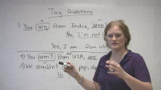 English Grammar - Tag Questions