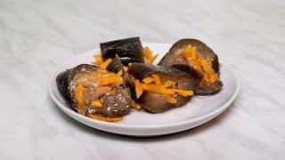 Баклажаны соленые с чесноком и морковью под гнетом без уксуса