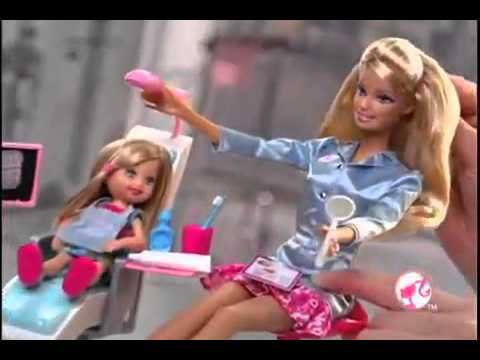Barbie i can be   Dentist Babysitter) doll commercial  HQ