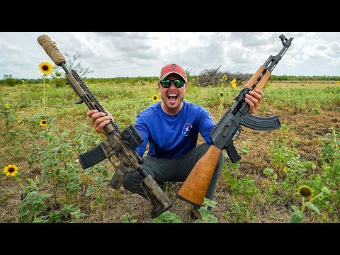 Serbian AK47 Vs American AR15 (Shocked)