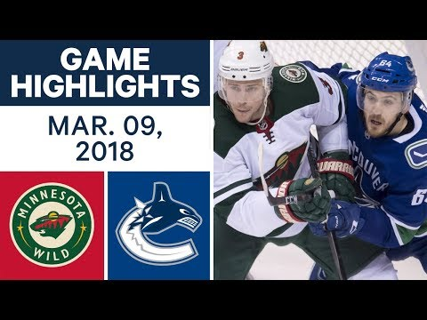 Video: NHL Game Highlights | Wild vs. Canucks - Mar. 09, 2018