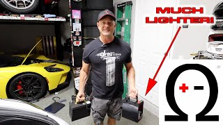 Every Pound Counts...  lightweight 12 volt lithium ion battery install in my Tesla by DragTimes