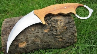 Making a Karambit From an Old Saw