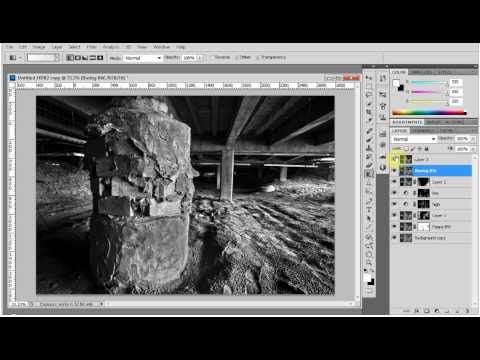 Black and White conversion from HDR – Photoshop Tutorial