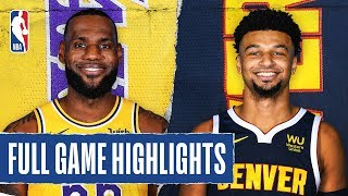 LAKERS at NUGGETS   FULL GAME HIGHLIGHTS   December 3, 2019