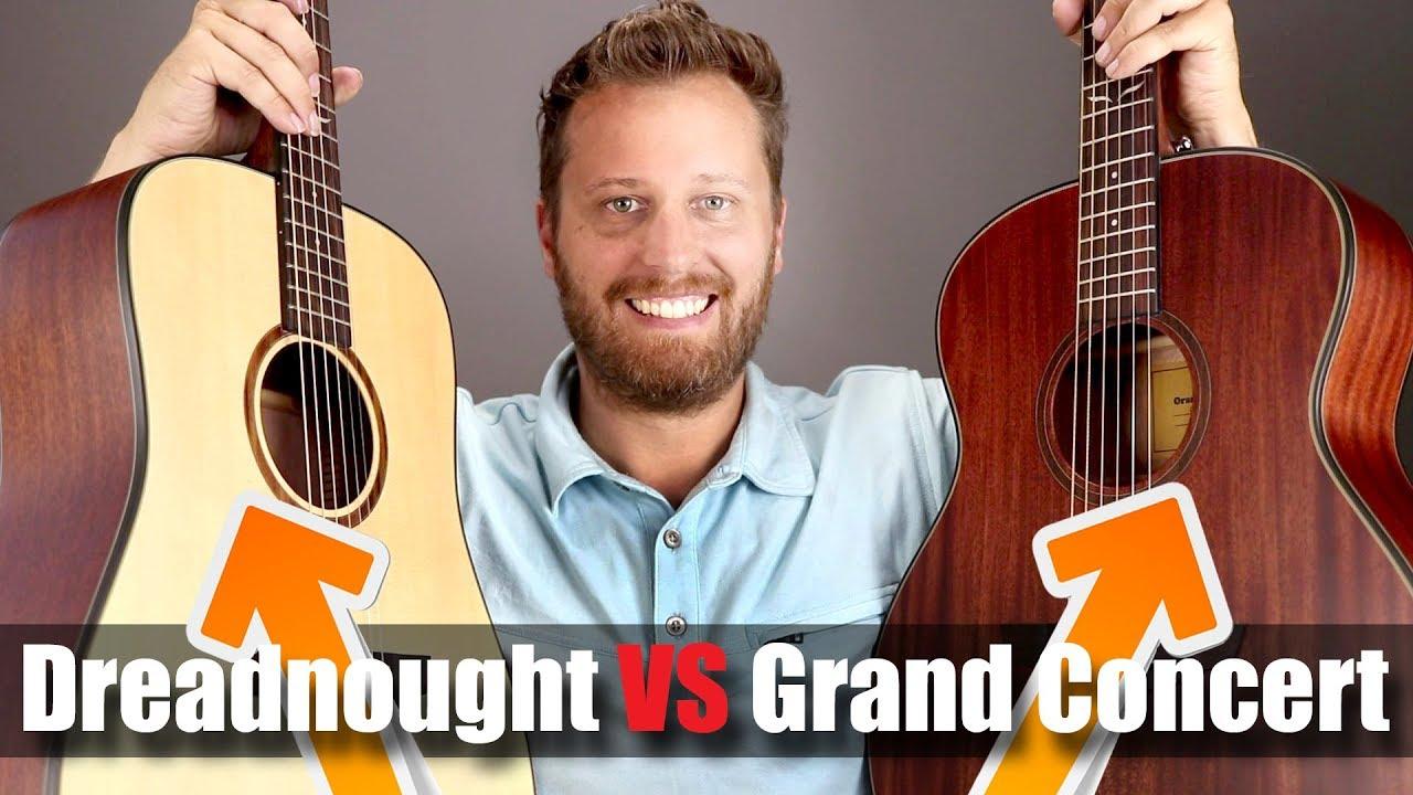 Grand Concert vs Dreadnought! – Orangewood Acoustic Guitar Comparison!