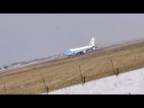 Donald Trump Air Force One Landing at Ahmedabad | Namaste Trump 2020