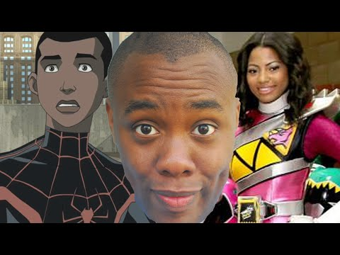 Nerd - First Black Pink Power Ranger & Donald Glover as Miles Morales. SUBSCRIBE! Join the Black Nerd Cousins: http://bit.ly/subbnc Super Megaforce Cast Interview: http://youtu.be/qW6K5NENnsY http://twitt...