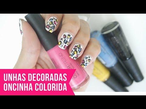 UNHAS DECORADAS: ONCINHA COLORIDA