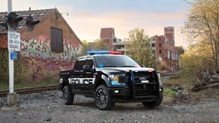 Here's a first look at the F-150 Police Responder. The engine is standard, but the interior is customized to assist police on the job.