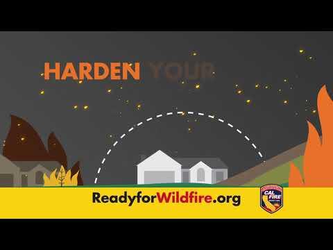 CAL FIRE Home Hardening 30 Sec PSA