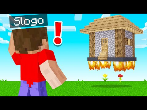 I MADE SLOGO'S HOUSE FLOAT In AIR! (Minecraft Troll)