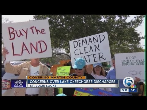 Protestors Angry Over Lake Okeechobee Discharges