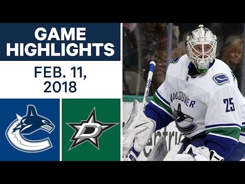 Video: NHL Game Highlights | Canucks vs. Stars - Feb. 11, 2018