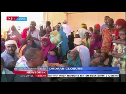 Deputy President William Ruto says Dadaab refugee camp closure is a done deal