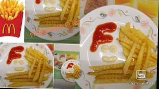 How to make McDonald's Fries At home.. Easy McDonald's Fries at home.. Yummy Fries.. in urdu hindi