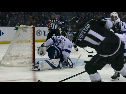 Video: Lightning's Vasilevskiy has potential save-of-the-year candidate against Kings