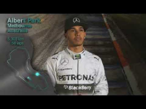 Lewis Hamilton presenta il GP d'Australia
