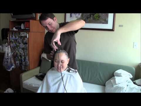 Husband Gives Wife Haircut