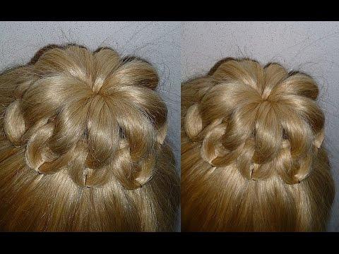 Прически с бубликом на длинные волосы мастер класс