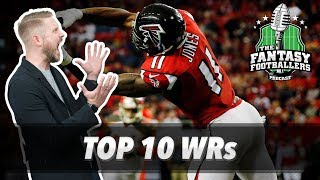 Fantasy Football Podcast for August 10th, 2017. The Fantasy Footballers are back again with our top 10 ranked wide receivers! Are there any Top 10 WRs to ...