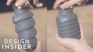 Eco-Friendly Water Bottle Collapses To Save Space