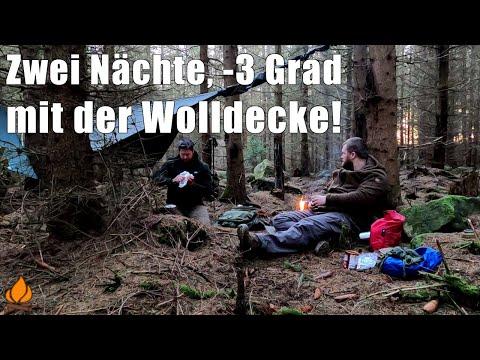 Goldene Herbst Tour - 2 Nächte, Minus 3 Grad mit Wolldecke | Bushcraft Overnighter Tour #41