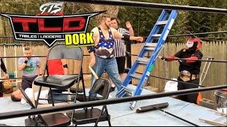 "GTS wrestling supercard event features the craziest gts wrestling TLC tables ladders and chairs match ever with epic wwe finishers, goldberg impression, table dive and more in this professional wrestling ppv entertainment video!Save 10% on your wrestling figures with promo Code ""GRIM"" here: http://www.ringsidecollectibles.com/Merchant2/merchant.mv?&DHPlease rate comment and subscribe to this channel for the most fun wwe style wrestling channel on youtube! This is not a real fight it is professional wrestling style wwe entertainment. Dont miss daily episodes from the greatest toy collector of all time, GRIM!OUR SECOND CHANNEL: http://www.youtube.com/user/kidlockdmhOFFICIAL WEBSITE: http://grimstoyshow.com/GET GRIMS T-SHIRTS AT PRO WRESTLING TEES: http://www.prowrestlingtees.com/related/grims-toy-show.htmlFOLLOW US ON TWITTER https://twitter.com/GrimsToyShow Grims Toy Show does NOT have a FACEBOOK GRIM'S fan run INSTAGRAM account @GTSAMABASSADOR"