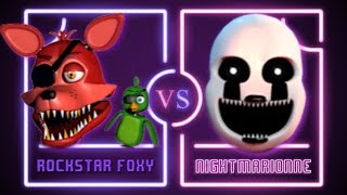ROCKSTAR FOXY VS NIGHTMARIONNE ⭐️ La Liga de FNAF   FNAF ULTIMATE CUSTOM NIGHT - Semifinales
