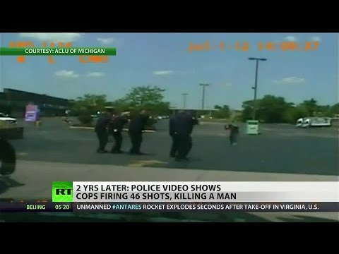 Shot - Cops who shot homeless man 46 times face no charges Find RT America in your area: http://rt.com/where-to-watch/ Or watch us online: http://rt.com/on-air/rt-america-air/ Like us on Facebook...