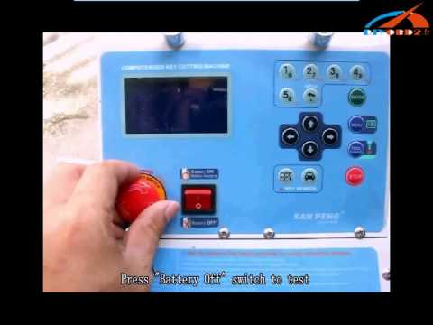 How to charge A7 key cutting machine battery