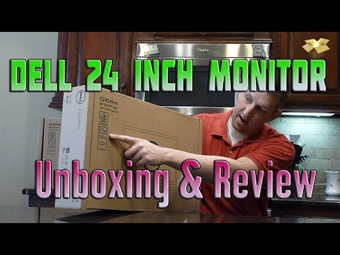 Dell 24 Inch Monitor Under $160 - Unboxing and Review