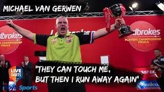 """Michael van Gerwen 2019 Players Champion: """"They can touch me, but then I run away again"""""""