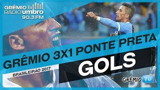 QUE ALEGRIA É GOL! Confira os gols do Tricolor na vitória sobre a Ponte Preta, na narração da Grêmio Rádio Umbro 90.3FM!