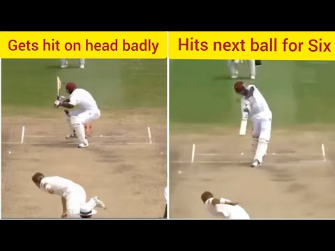 Brutal Bouncers hitting Batsmen and then batsmen's perfect reply to bowler. Cricket at its best!