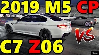 SMACK DOWN !! 2019 M5 Comp F90 vs C7 Z06 - Both Modded - Drag Race - Road Test TV by Road Test TV