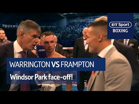 It's happening! Carl Frampton and Josh Warrington classy call out at Windsor Park (видео)