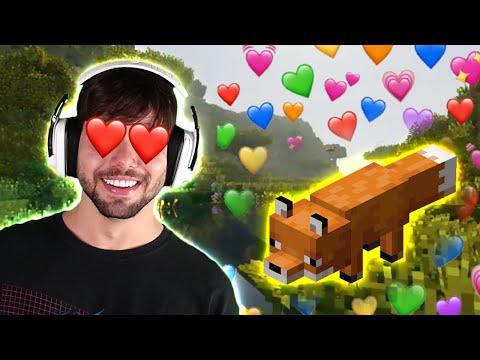 Fiz uma famiL de Raposas no Minecraft **elas são fofas❤️**