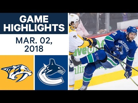 Video: NHL Game Highlights | Predators vs. Canucks - Mar. 02, 2018