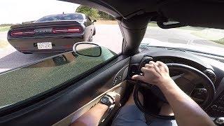 Kolesie w C6 kontra dziadek z ciężką nogą! Czyli Dodge Challenger vs Chevrolet Corvette!