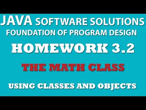 Java: Using Math Class (Ex 3.2) – Using Classes and Objects