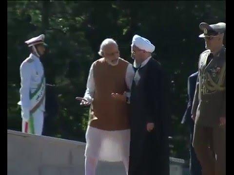 PM Shri Narendra Modi at the Ceremonial Reception In Iran