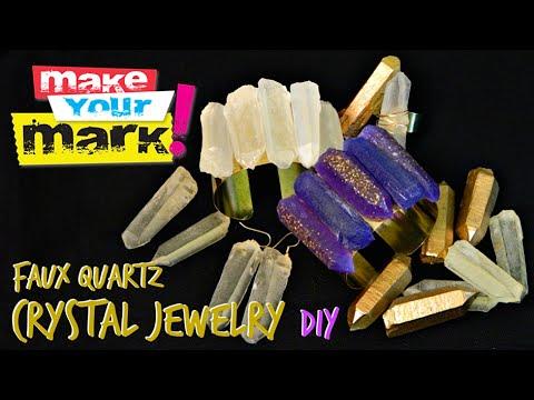 How to Faux Quartz Crystal Jewelry